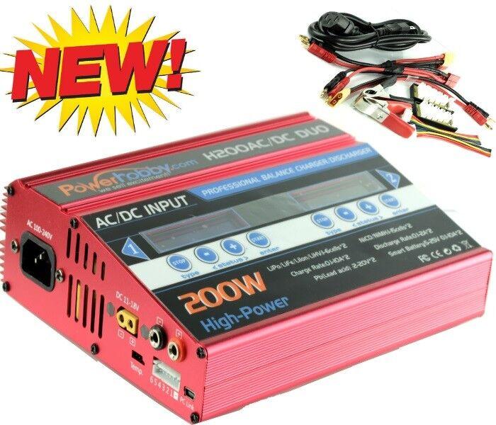Powerhobby H200 ca   cc 100w X 2 Doble 10a de Lipo Duo Rc Batería