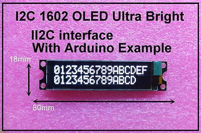 IIC / I2C 1602 16x2 OLED White Module Display - For Arduino / PIC / AVR / ARM