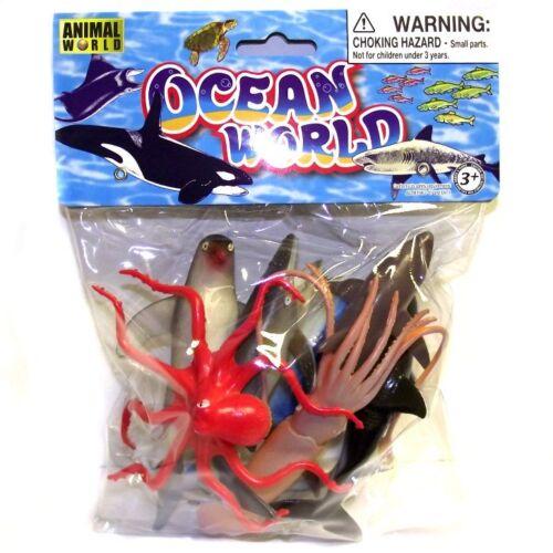 8 Sealife animaux jouet amusant Ocean world Sealife plastic toys set