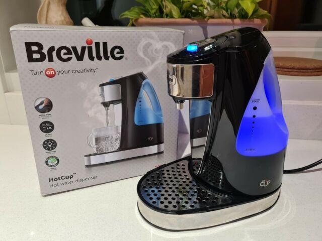 BREVILLE VKJ142 Hot Cup Energy Saving Dispenser Kettle Black Fast Boil 3KW Boxed