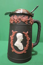 Wedgwood Jasperware Royal Collection Tri Color Cream Pitcher Black Terra White