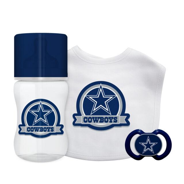 2e6d1437255 Dallas Cowboys Infant Baby Fanatic Gift Set Bottle Bib Pacifier BPA Free NFL