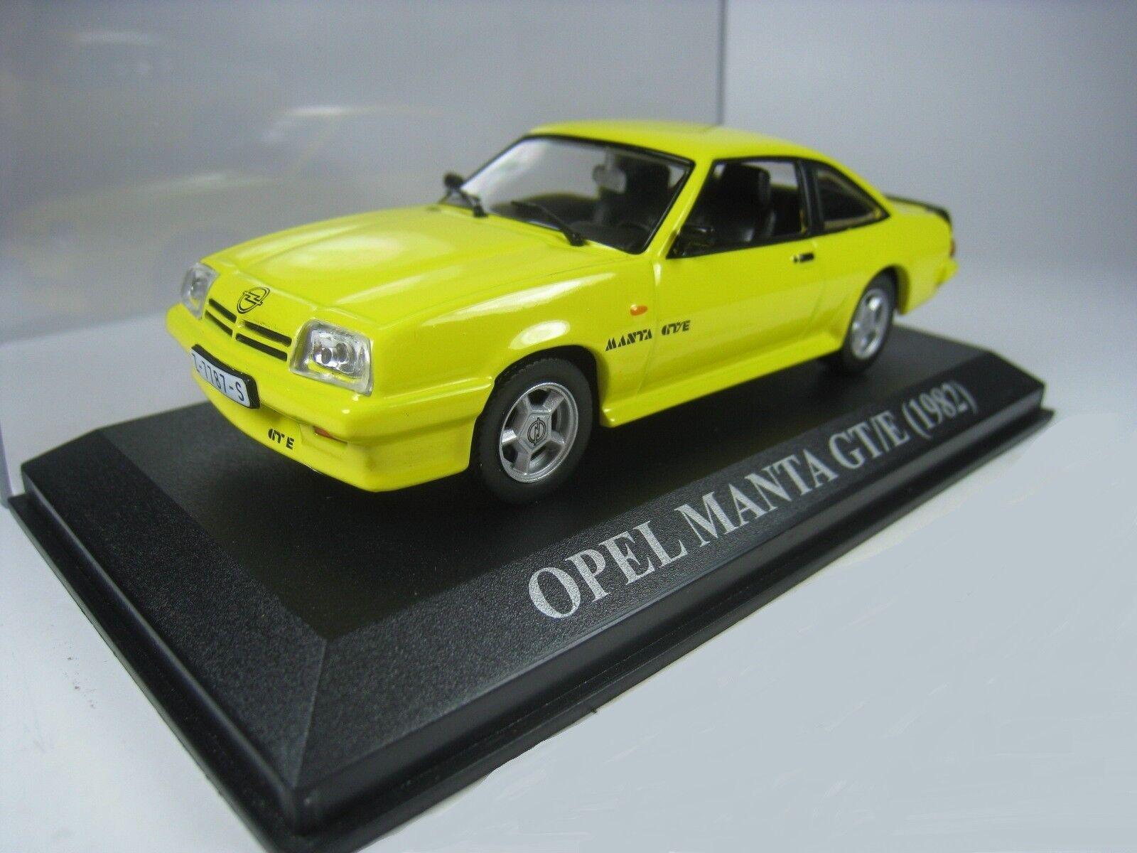 OPEL MANTA GT-E 1982 IXO ALTAYA 1 43 yellow YELLOW NEW yellow DEUTSCHLAND WAGEN
