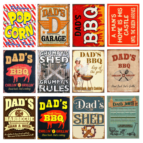 Gift For Dads Man Things Retro metal Sign vintage pub man cave shed Garage Tools