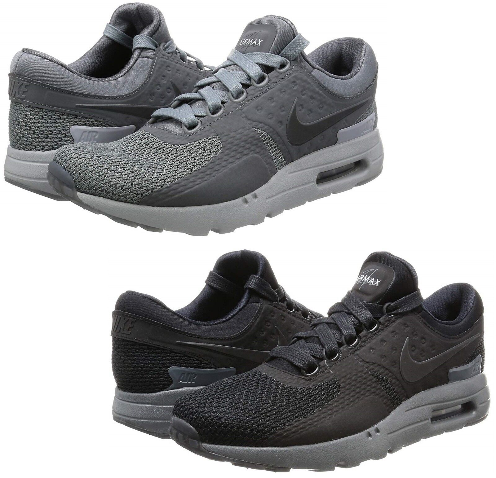 info for 4433b 9f02d Nike Air Max Zero QS Mens 789695-003 Cool Dark Wolf Grey Running Shoes Size  11.5   eBay