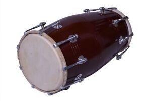 Noir Mango Bois Bolt-Tuned Clé Sac Rembourré Dholak Tambour Instrument Avec Étui