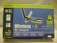 Linksys Wmp54g (745883555031) Pci Adapter Factory Sealed