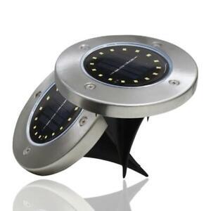 LED-energie-solaire-enterree-lumiere-sous-le-sol-lampe-de-jardin-terrasse-Neuf