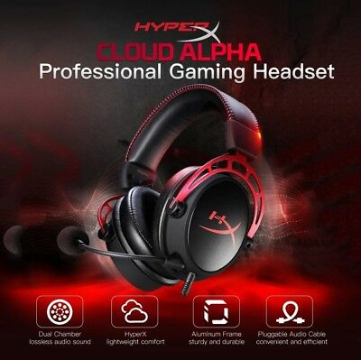 Kingston HyperX Cloud Core 3.5mm Wired Gaming Headphone Headset w//Detachable Mic