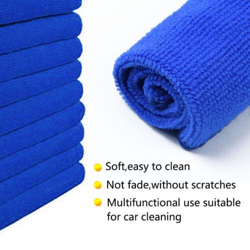 50 X Suave Microfibra Limpieza Auto Coche detallando paños de lavado Toalla Plumero