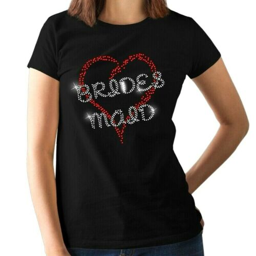 Hen Night Bridal Crystal BRIDE TO BE Ladies Fitted Rhinestone T Shirt