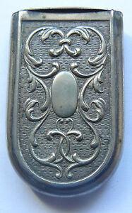 Vintage Metal Matchbox Match Safe Vesta Case Decorated end XIXc - beginning XXc