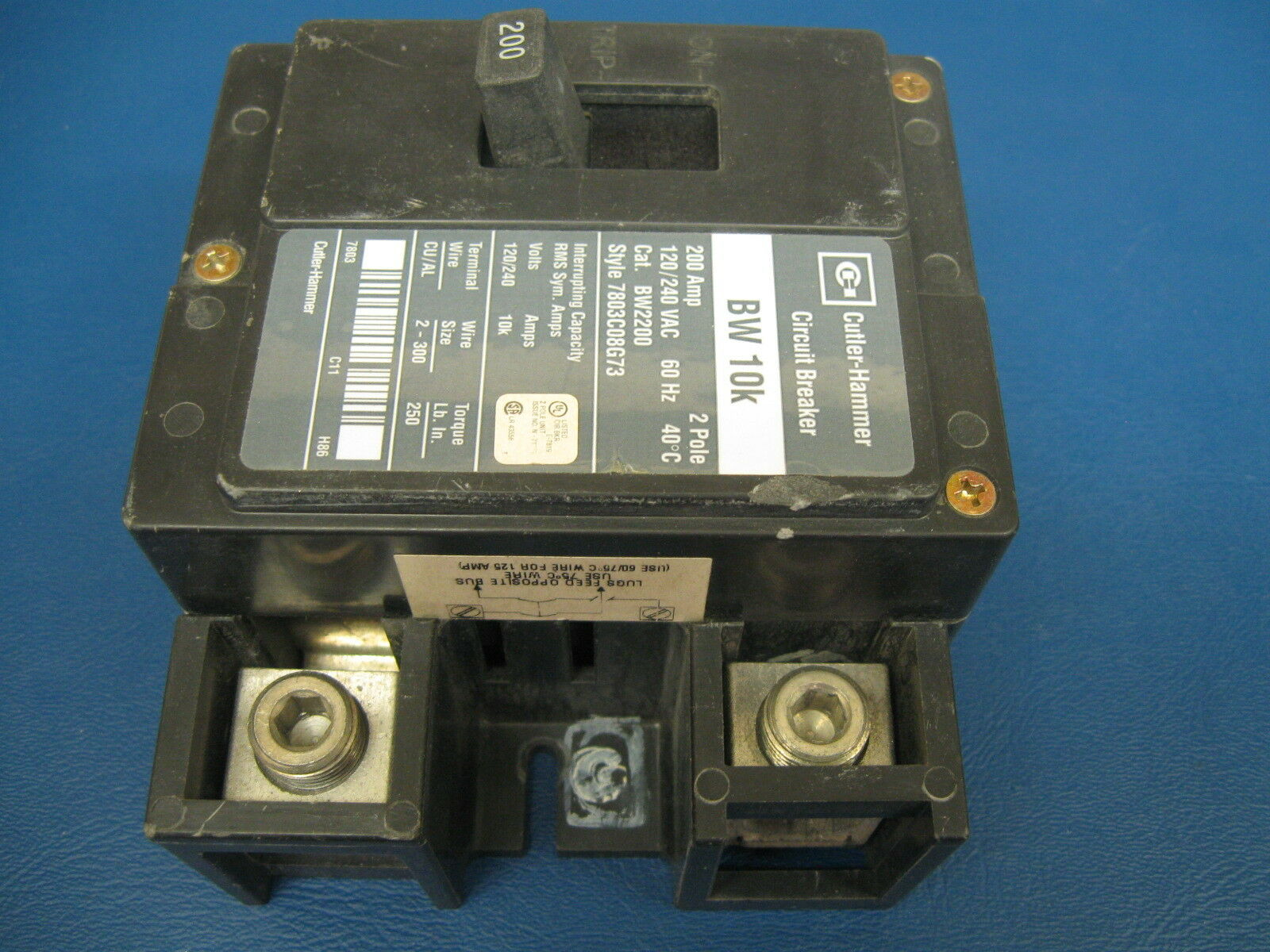 200 Amp 2 Pole Cutler Hammer Eaton Bw2200 Main Breaker Same As 200amp Circuit With 60amp Generator Norton Secured Powered By Verisign
