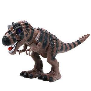 Retailery Walking Dinosaur T-Rex With Light And Dinosaur Sounds, Brown