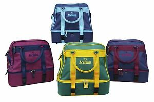 ACCLAIM Farne Midi Double Decker Flat Lawn Green Two Tier Bowling Bowls Bag