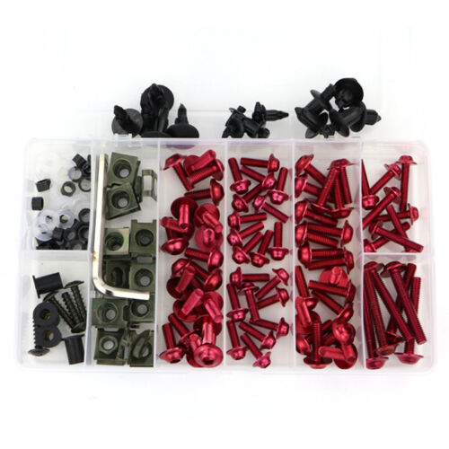 CNC Alloy Motorcycle Complete Fairing Bolt Kits Bodywork Screws Nuts For BMW