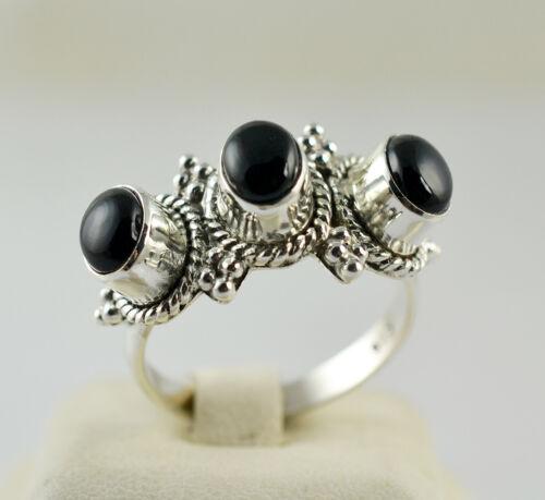 Etats-Unis-Sophie - 01 Black Onyx Ring 925 Sterling Silver Handmade Ring