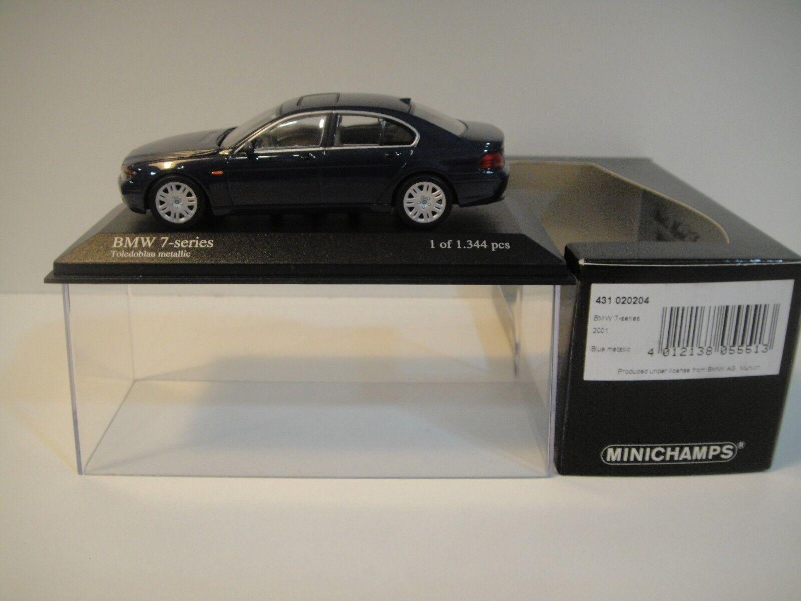 --1 43 MINICHAMPS. BMW 7-Series 2001. bleu bleu bleu Metallic. 6d6fb0