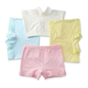 4x Enfant Bébé Fille Culotte Coton Slip Caleçon Sous-vêtement Court ... 655c291f814