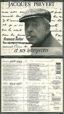 RARE JACQUES PREVERT ET SES INTERPRETES ( 2 CD ) / 56 TITRES / GRECO, REGGIANI