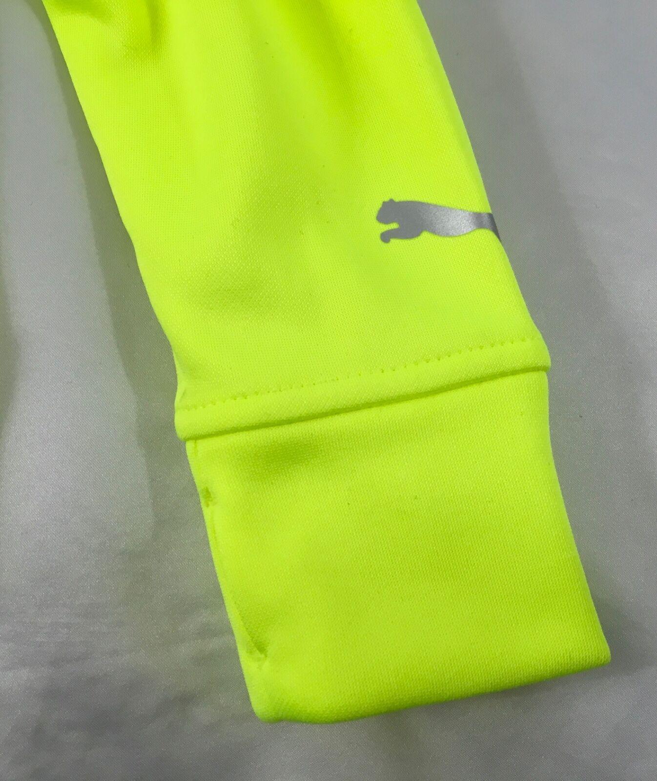 bb050b759a83 PUMA Boy s Sweater Hoodie Acid Yellow Black Logo Kids Size 5 for ...