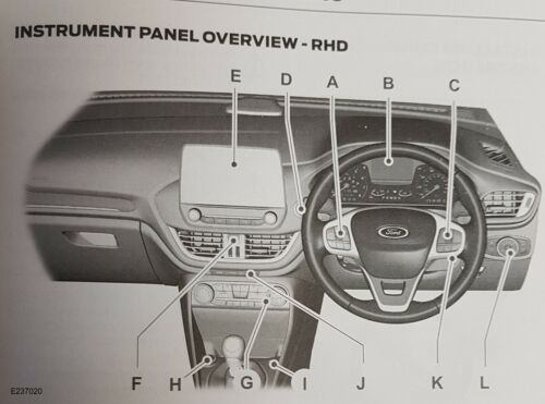 FORD FIESTA HANDBOOK OWNERS MANUAL WALLET SERVICE BOOK 2017-2020 QUICK GUID O335