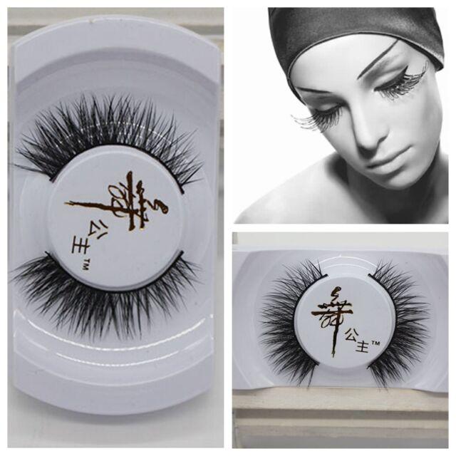 Black Luxurious 100%Real Mink Long Natural Thick Eye Lashes False Eyelashes HK