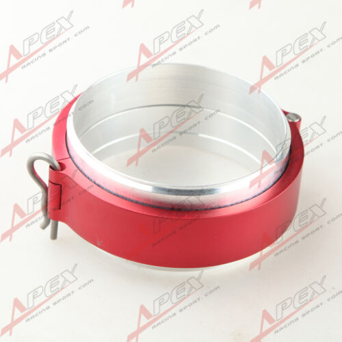 """Universal Aluminum 3/"""" Turbo Clamshell Clamps Clamp Red"""