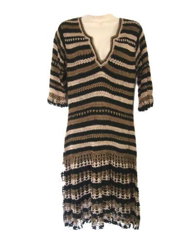 Karen Millen Womens Dress 4 Knit Crochet Bohemnian