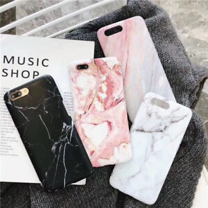 Marble-Phone-Case-Cover-For-iPhone-7-6-6S-8-Plus-Xs-Fashion-Soft-TPU-Back-Shell