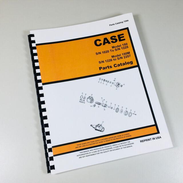 s l640 case 150 150m uni loader parts manual catalog skid steer assembly