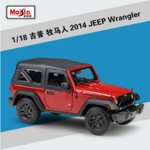 Maisto 1 18 Jeep Wrangler Diecast Metal Model Car New rosso