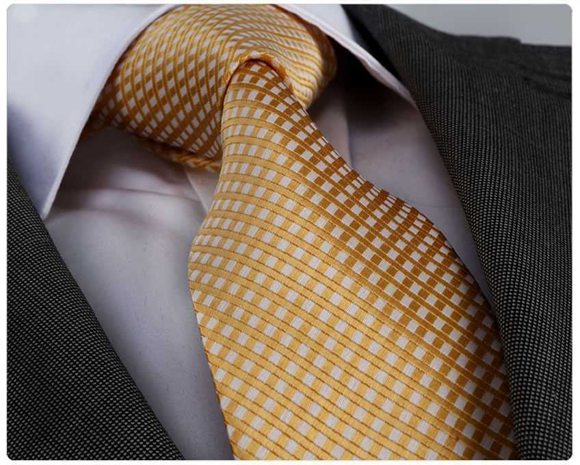 Herren Qualitäts-Krawatte handgefertigt gold, weiß handmade tie PD-2704