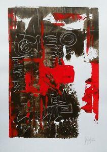 Dipinto-acrilico-opera-su-carta-firmata-a-mano-tinta-marrone-Stefano-Fiore