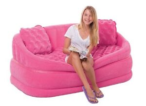 Intex cafe love seat pink sessel sofa couch aufblasbar for Couch aufblasbar
