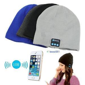 Warm-Beanie-Hat-Wireless-Bluetooth-Smart-Cap-Headphone-Headset-Speaker-Mic-NZ