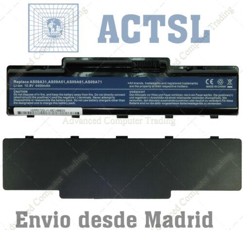 AS09A61 10,8V 4400mAh 6 celdas BATTERY for ACER AS09A75