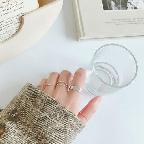 925er Sterling Silber Minimalistisch Fliegende Vögel Frauen Offene Ringe Schmuck