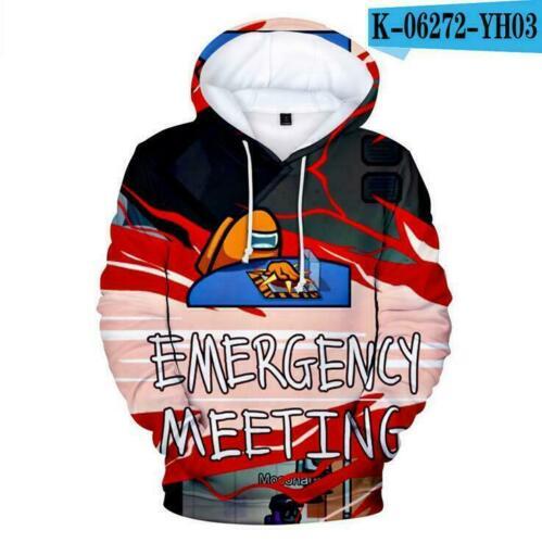 Among Us Impostor Kids Men Womens 3D Print Hoodie Hooded Sweatshirt Pullover Top