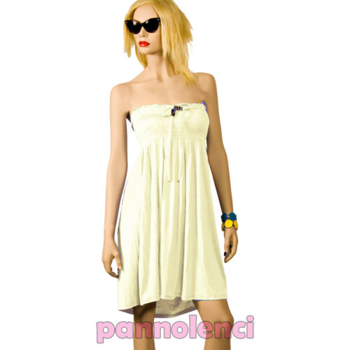 Abito miniabito vestito donna jersey dress vestitino copricostume mare AS-08503