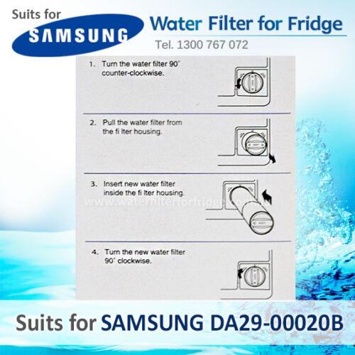 3X SAMSUNG SRF719DLS  719 LITERS  WATER AND  ICE  FRIDGE FILTER