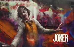 """047 Joaquin Phoenix Joker 2019 Great Actor Super Star 21/""""x14/"""" Poster"""