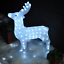 LIGHT-Up-effetto-di-cristallo-Outdoor-Indoor-Decorazione-di-Natale-luci-LED-Renna miniatura 5