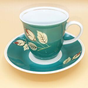 Pari-Kunst-Porzellan-Mokkatasse-Espressotasse-gruen-60er-Jahre