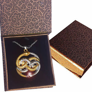 AURYN-Never-Ending-Story-Necklace-Pendant-Magic-Gold-Silver-Box-New-Mother-039-s-Day