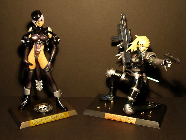 Masamune Shirow - Intron Depot - Galhound + Ballistic - Action Figures Set of 2.