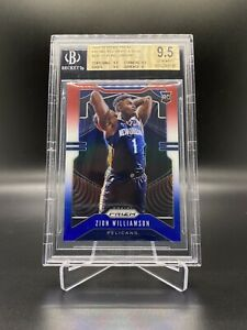 2019/20 NBA PANINI PRIZM RED WHITE & BLUE ZION WILLIAMSON #248 BGS 9.5 ROOKIE
