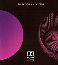 2016 Dolby Atmos Demo Demonstration Disc BluRay Blu Ray BRAND NEW SEALED