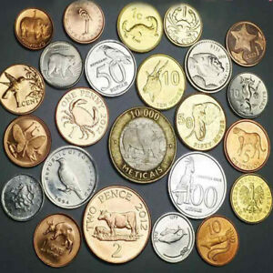 25PCS-Different-Birds-and-Animals-Coins-Not-Duplicate-UNC