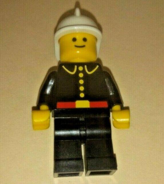 City FIRE CHIEF LEGO Minifigure - Mint Minifig Mini Figure Gold Helmet